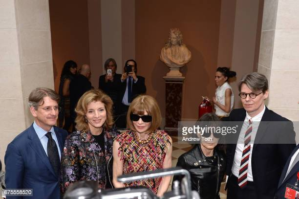 Thomas P Campbell Caroline Kennedy Anna Wintour Rei Kawakubo and Andrew Bolton attend the 'Rei Kawakubo/Comme des Garcons Art Of The InBetween'...