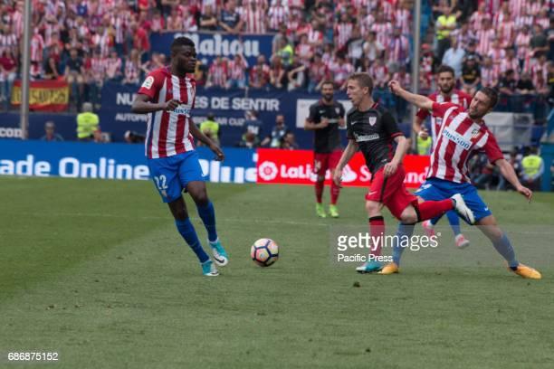 Thomas Partey Iker Muniain and Saúl Ñíguez during the football match between Atletico de Madrid and Athletic de Bilbao Atletico de Madrid win over...