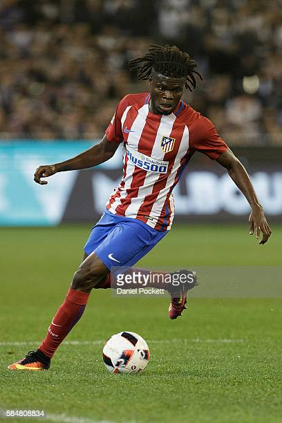 Thomas Partey of Atletico de Madrid controls for the ball during 2016 International Champions Cup Australia match between Tottenham Hotspur and...