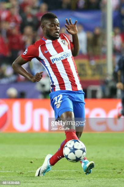 Thomas Partey of Atletico Madrid during the UEFA Champions League Semi Final second leg match between Club Atletico de Madrid and Real Madrid CF at...