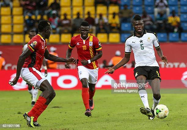 Thomas Partey of Ghana in action during the African Cup of Nations 2017 Group D match between Ghana and Uganda at PortGentil Stadium in PortGentil...