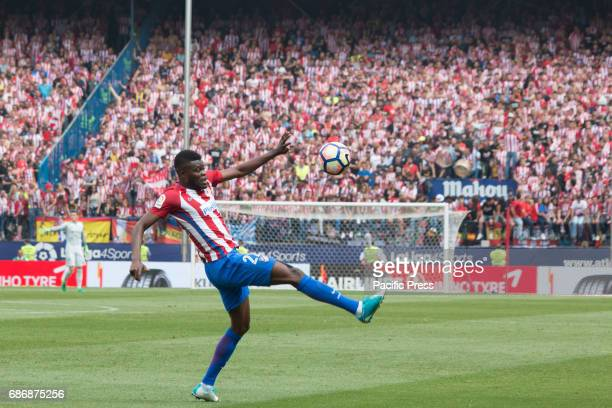 Thomas Partey try to control the ball during the football match between Atletico de Madrid and Athletic de Bilbao Atletico de Madrid win over...