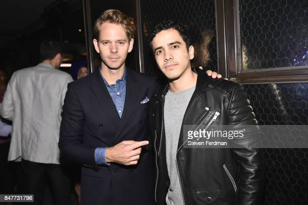 Thomas Pierce and Jose Duran attend PMA with KANTRR Labs and Pierce Capital Entertainment host the Wrap Party of 'Tu Me Manques' Sponsored by Singani...