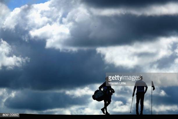 Thomas Pieters of Belgium and his caddie during the ProAm of the Dubai Duty Free Irish Open at Portstewart Golf Club on July 5 2017 in Londonderry...