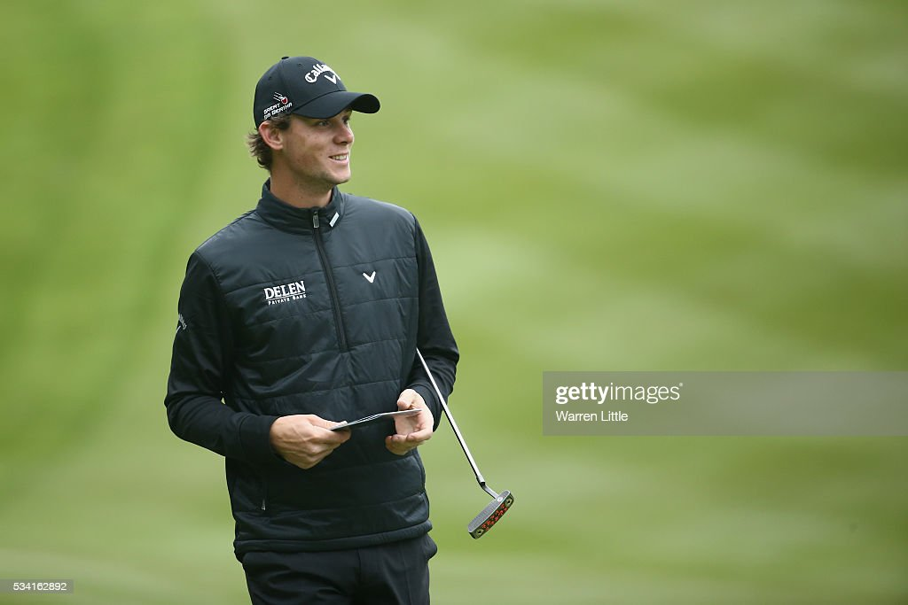 <a gi-track='captionPersonalityLinkClicked' href=/galleries/search?phrase=Thomas+Pieters&family=editorial&specificpeople=7157992 ng-click='$event.stopPropagation()'>Thomas Pieters</a> of Belgium looks on during the Pro-Am prior to the BMW PGA Championship at Wentworth on May 25, 2016 in Virginia Water, England.