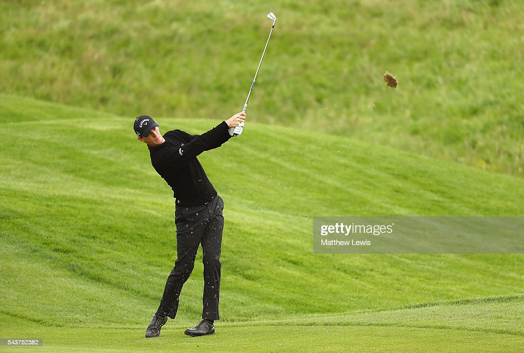 <a gi-track='captionPersonalityLinkClicked' href=/galleries/search?phrase=Thomas+Pieters&family=editorial&specificpeople=7157992 ng-click='$event.stopPropagation()'>Thomas Pieters</a> of Belgium plays a shot from the fairway during day one of the 100th Open de France at Le Golf National on June 30, 2016 in Paris, France.