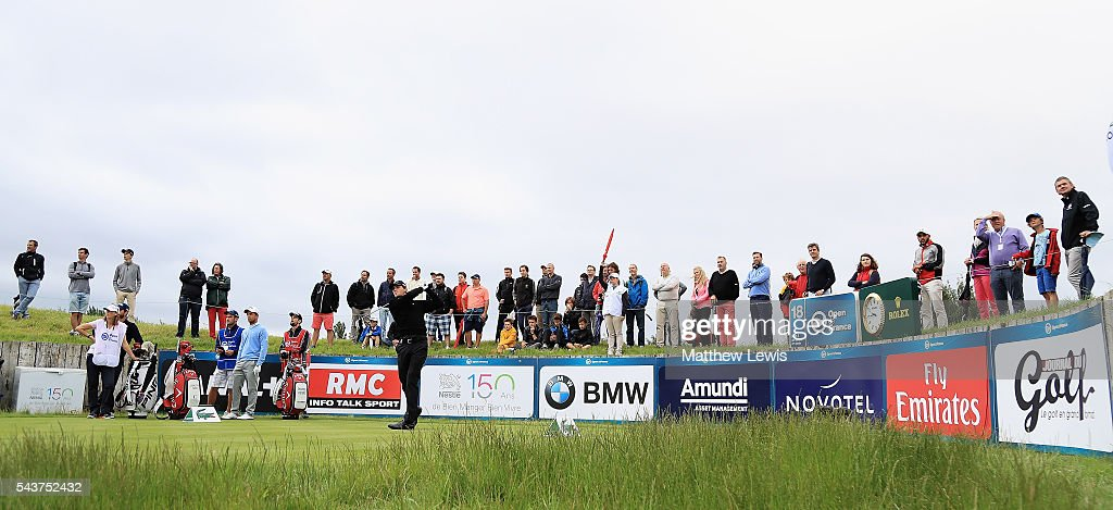 <a gi-track='captionPersonalityLinkClicked' href=/galleries/search?phrase=Thomas+Pieters&family=editorial&specificpeople=7157992 ng-click='$event.stopPropagation()'>Thomas Pieters</a> of Belgium tees off on the 18th hole during day one of the 100th Open de France at Le Golf National on June 30, 2016 in Paris, France.