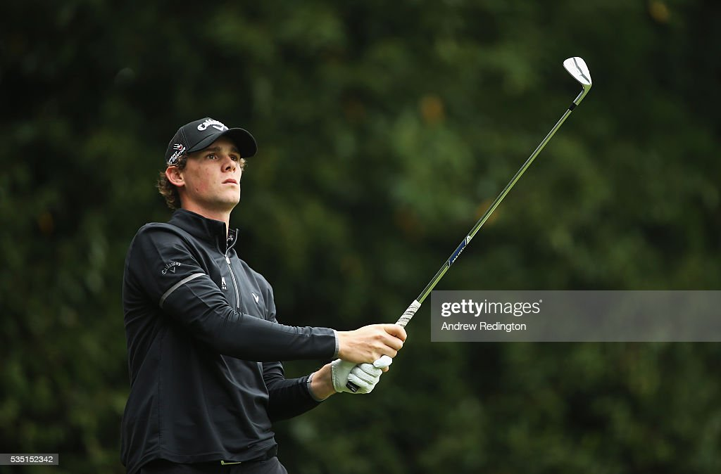 <a gi-track='captionPersonalityLinkClicked' href=/galleries/search?phrase=Thomas+Pieters&family=editorial&specificpeople=7157992 ng-click='$event.stopPropagation()'>Thomas Pieters</a> of Belgium tees off on the 2nd hole during day four of the BMW PGA Championship at Wentworth on May 29, 2016 in Virginia Water, England.