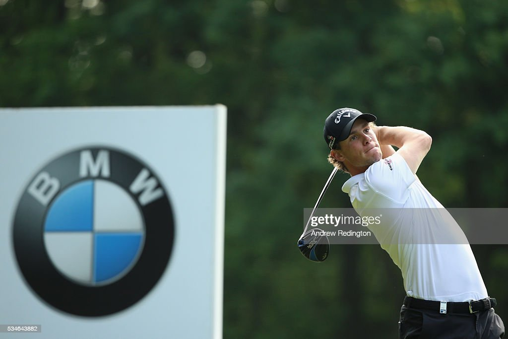 <a gi-track='captionPersonalityLinkClicked' href=/galleries/search?phrase=Thomas+Pieters&family=editorial&specificpeople=7157992 ng-click='$event.stopPropagation()'>Thomas Pieters</a> of Belgium tees off on the 3rd hole during day two of the BMW PGA Championship at Wentworth on May 27, 2016 in Virginia Water, England.