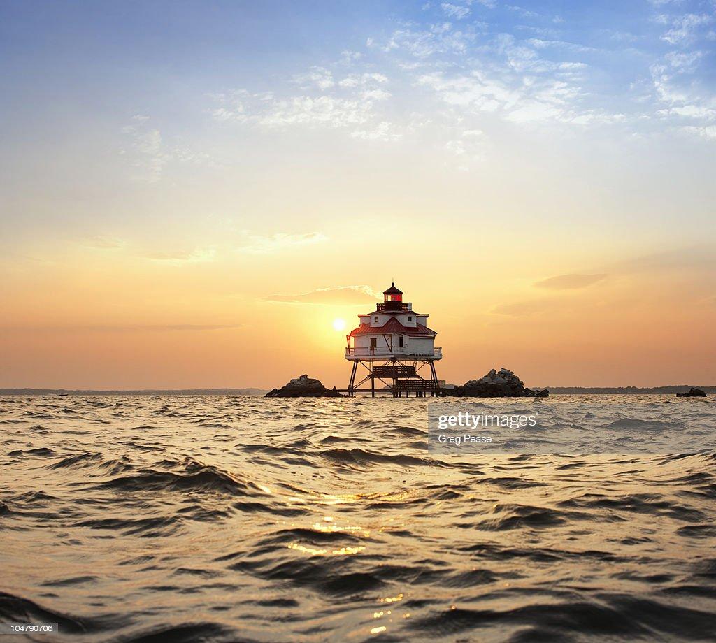 Thomas Point Shoal Lighthouse at Sunset