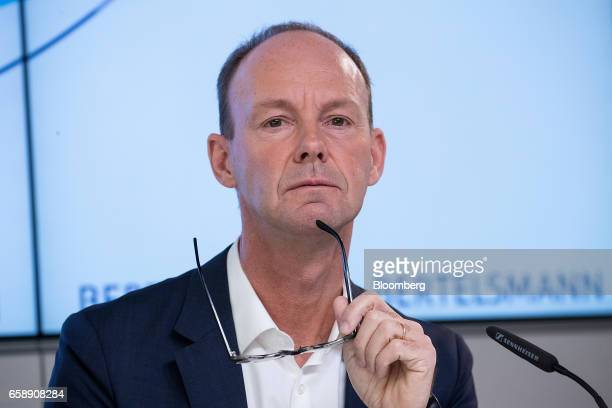 Thomas Rabe chief executive officer of Bertelsmann SE pauses during a news conference in Berlin Germany on Tuesday March 28 2017 Bertelsmann SE the...