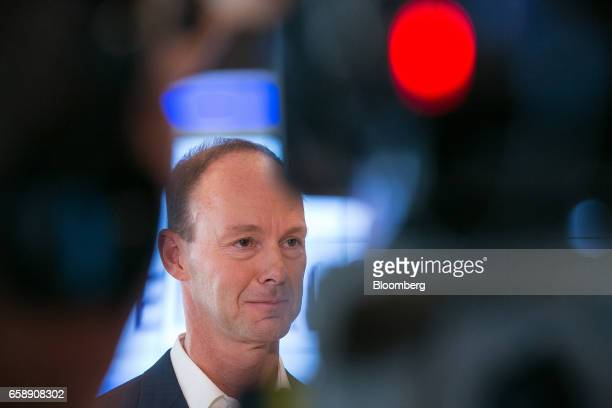 Thomas Rabe chief executive officer of Bertelsmann SE pauses during an interview in Berlin Germany on Tuesday March 28 2017 Bertelsmann SE the German...