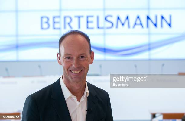 Thomas Rabe chief executive officer of Bertelsmann SE poses for a photograph before an interview in Berlin Germany on Tuesday March 28 2017...