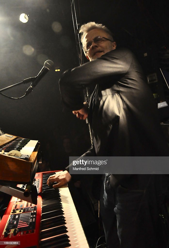 Thomas Rabitsch performs onstage during the 'Hallucination Company plays Hansi Lang Concert' at Szene Wien on January 13, 2013 in Vienna, Austria.