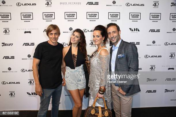 Thomas Radeck Tanja Tischewitsch and guests attend the PF Selected show during Platform Fashion July 2017 at Areal Boehler on July 23 2017 in...