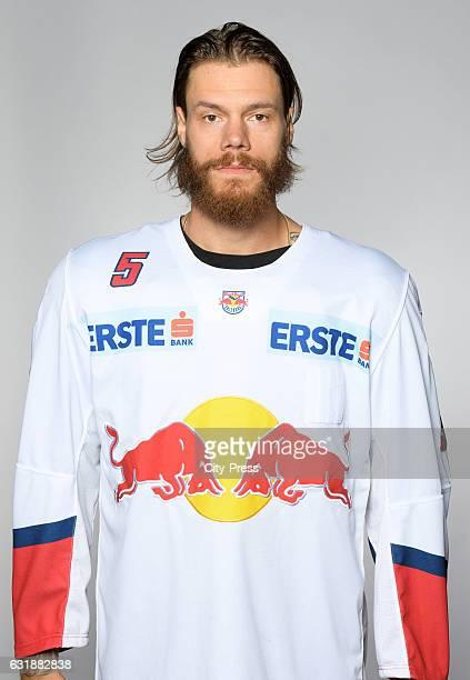 Thomas Raffl of EC Red Bull Salzburg during the portrait shot September 16 2016 in Salzburg Austria