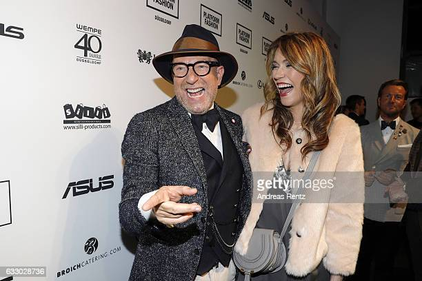 Thomas Rath and Annett Moeller attend the Thomas Rath after party during Platform Fashion January 2017 at Areal Boehler on January 29 2017 in...