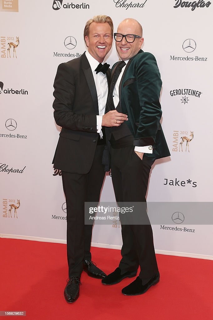 Thomas Rath and husband Sandro Rath attend 'BAMBI Awards 2012' at the Stadthalle Duesseldorf on November 22, 2012 in Duesseldorf, Germany.