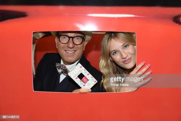 Thomas Rath and Mandy Bork present the new limited nail polish line 'Fashion Colours by Thomas Rath' for alessandro International at the Beauty Top...