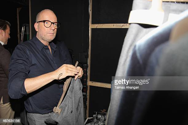 Thomas Rath is seen backstage ahead of the Thomas Rath show during the Platform Fashion February 2015 on February 1 2015 in Duesseldorf Germany