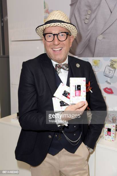 Thomas Rath presents the new limited nail polish line 'Fashion Colours by Thomas Rath' for alessandro International at the Beauty Top Hair Fair on...