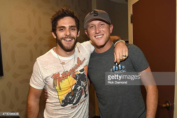 Thomas Rhett and Cole Swindell attend 'Georgia on My Mind hosted by the Peach Pickers and Friends' a benefit for the Georgia Music Foundation at the...