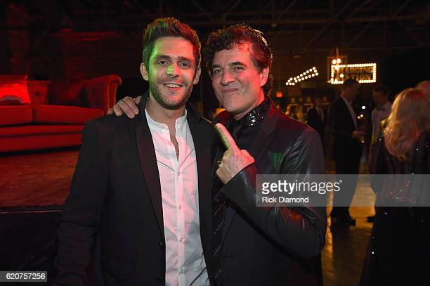 Thomas Rhett and Scott Borchetta attend the Big Machine Label Group's celebration of the 50th Annual CMA Awards at Marathon Music Works on November 2...