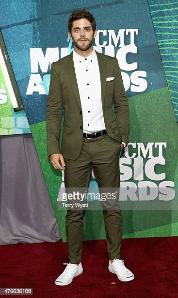 Thomas Rhett attends the 2015 CMT Music awards at the Bridgestone Arena on June 10 2015 in Nashville Tennessee