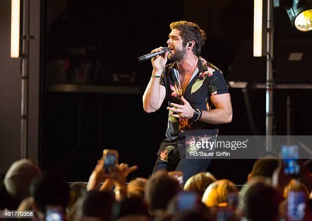 Thomas Rhett is seen at 'Jimmy Kimmel Live' on October 07 2015 in Los Angeles California