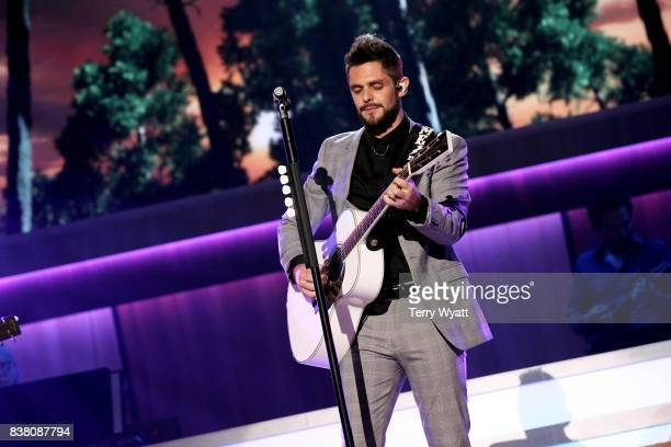 Thomas Rhett performs onstage during the 11th Annual ACM Honors at the Ryman Auditorium on August 23 2017 in Nashville Tennessee