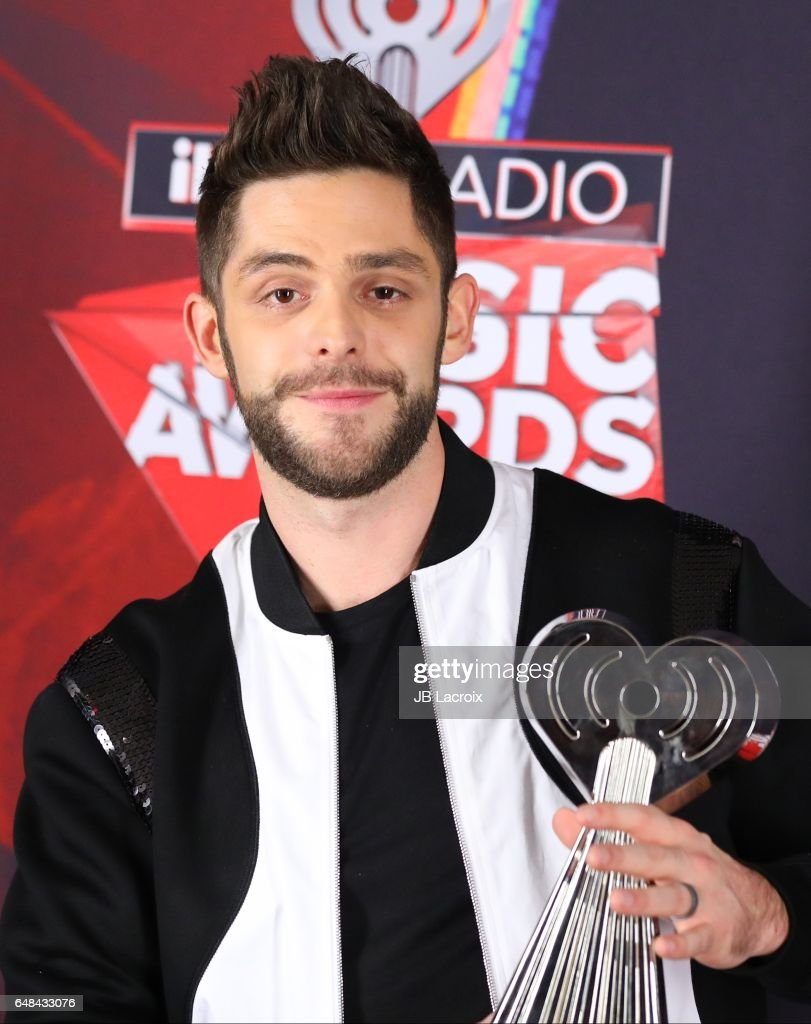 Thomas Rhett poses during the 2017 iHeartRadio Music Awards at The Forum on March 5, 2017 in Inglewood, California.