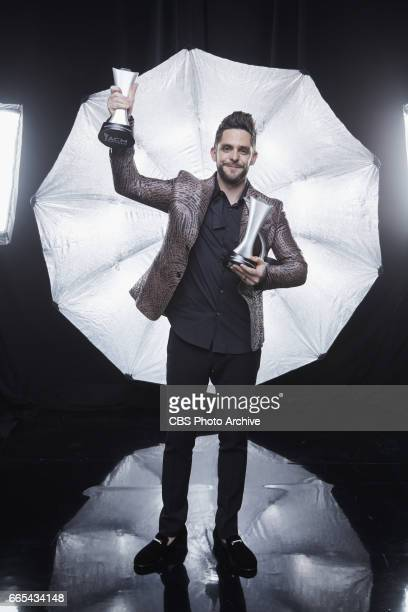 Thomas Rhett poses for a photograph in the CBS Photo Booth backstage at THE 52ND ACADEMY OF COUNTRY MUSIC AWARDS broadcast LIVE from TMobile Arena in...