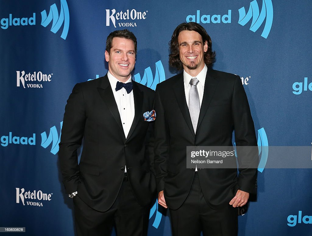 Thomas Roberts and <a gi-track='captionPersonalityLinkClicked' href=/galleries/search?phrase=Chris+Kluwe&family=editorial&specificpeople=749151 ng-click='$event.stopPropagation()'>Chris Kluwe</a> attend the Ketel One VIP Red Carpet Suite at the 24th Annual GLAAD Media Awards at the Marriott Marquis on March 16, 2013 in New York.