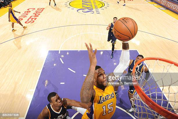 Thomas Robinson of the Los Angeles Lakers goes up for a dunk against the Utah Jazz on December 27 2016 at STAPLES Center in Los Angeles California...