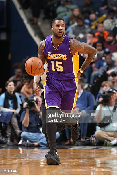 Thomas Robinson of the Los Angeles Lakers handles the ball against the Memphis Grizzlies on December 3 2016 at FedExForum in Memphis Tennessee NOTE...