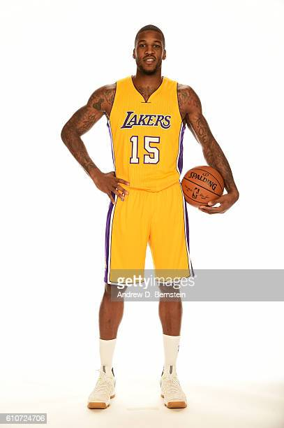Thomas Robinson of the Los Angeles Lakers poses for a portrait during the 20162017 Los Angeles Lakers Media Day at Toyota Sports Center on September...