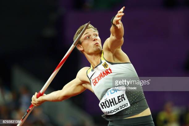Thomas Rohler of Germany competes during the mens javelin qualification during day seven of the 16th IAAF World Athletics Championships London 2017...