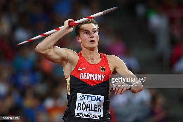 Thomas Rohler of Germany competes in the Men's Javelin final during day five of the 15th IAAF World Athletics Championships Beijing 2015 at Beijing...