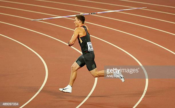 Thomas Rohler of Germany competes in the Men's Javelin qualification during day three of the 15th IAAF World Athletics Championships Beijing 2015 at...