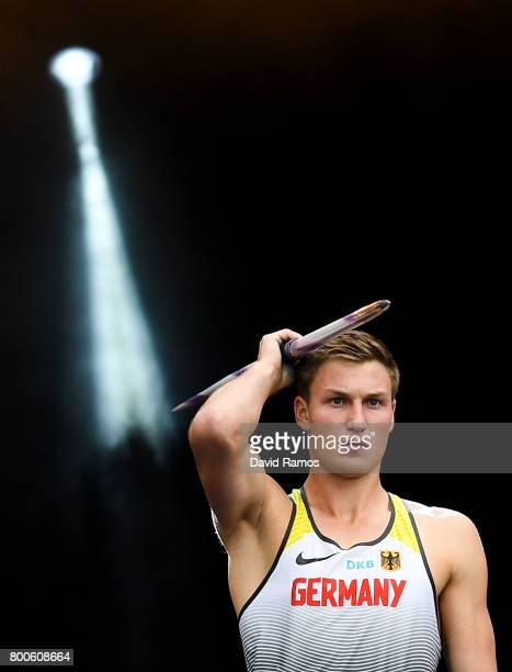 Thomas Rohler of Germany competes in the Men's Javelin Thrown during day two of the European Athletics Team Championships at the Lille Metropole...