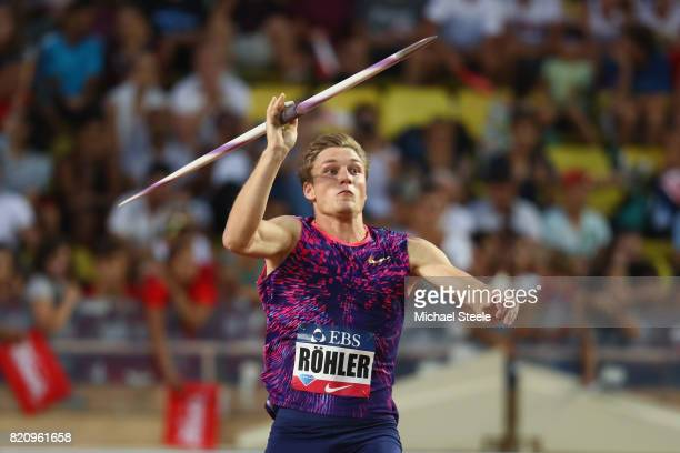 Thomas Rohler of Germany in action during the men's javelin during the IAAF Diamond League Meeting Herculis on July 21 2017 in Monaco Monaco