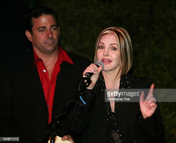 Thomas Rollerson Priscilla Presley during 2003 Dream Makers Circle Reception at Private Residence in Beverly Hills California United States