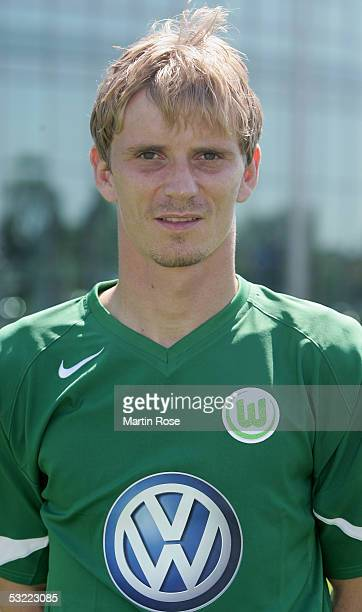 Thomas Rytter poses during the team presentation of VFL Wolfsburg for the Bundesliga Season 2005 2006 on July 10 2005 in Wolfsburg Germany