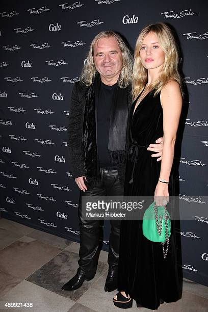 Thomas Sabo and Model Georgia May Jagger attend the Thomas Sabo grand flagship store opening on September 24 2015 in Hamburg Germany