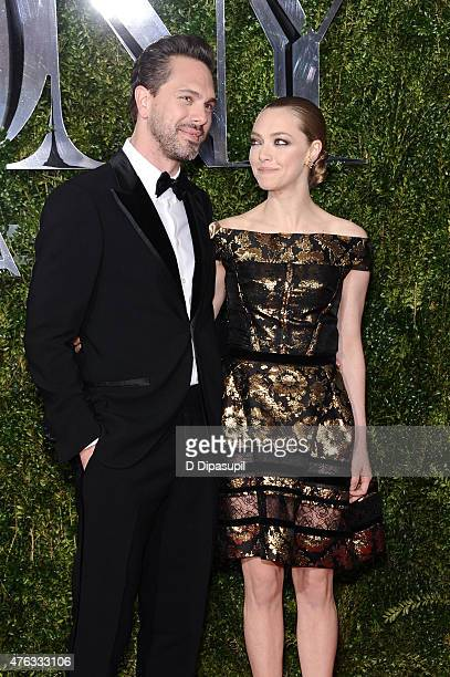 Thomas Sadoski and Amanda Seyfried attend the American Theatre Wing's 69th Annual Tony Awards at Radio City Music Hall on June 7 2015 in New York City