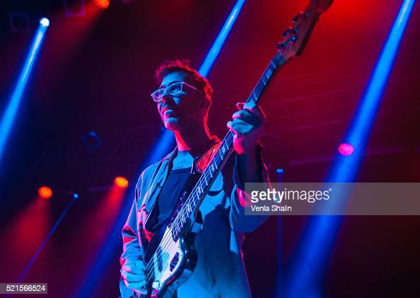 Thomas Sanders of Teleman performs at KOKO on April 14 2016 in London England