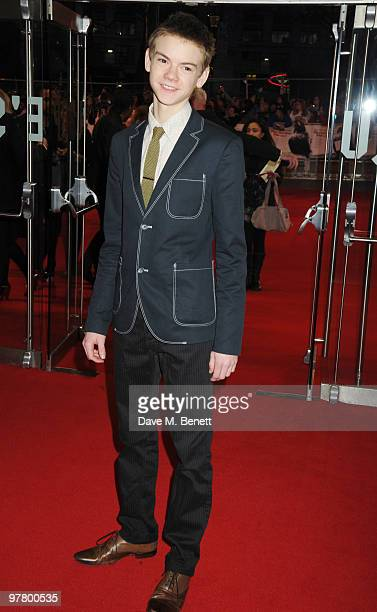 Thomas Sangster attends the 'Remember Me' UK film premiere at the Odeon Leicester Square on March 17 2010 in London England