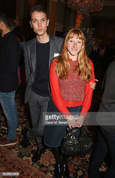 Thomas Shickle and Molly Goddard attend the London Collections Men AW16 opening party hosted by the British Fashion Council and GQ Editor Dylan Jones...