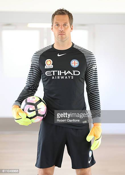 Thomas Sorensen of Melbourne City FC poses for a portrait on September 29 2016 in Melbourne Australia