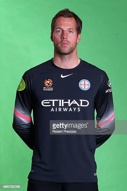 Thomas Sorensen poses during a photo session at Fox Sports Studio on September 2 2015 in Melbourne Australia